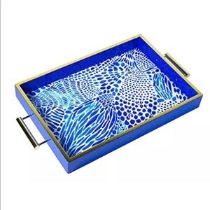 Lilly Pulitzer NEW HOSTESS TRAY BLUE GOOD GORGEOUS